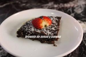 Brownie De Avena Y Banana Saludable