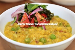 Bowl De Lentejas Con Ensalada Wakame