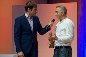 Moderator Marc Langebeck im Gespräch mit Frank Cottrell Boyce // Foto: © Ulf Cronenberg