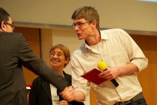 Stephan Knoesel bei der Überreichung des Kranichsteiner-Stipendiums