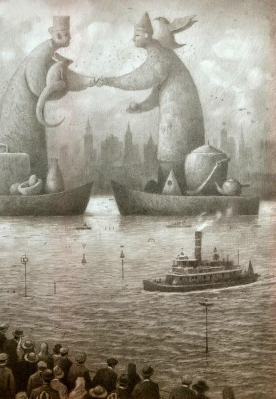 Die Ankunft im Hafen des neuen Landes …