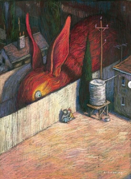 """Shaun Tan, Zeichnung aus """"Der Vogelkönig und andere Skizzen"""""""