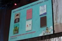 Die nominierten Jugendbücher || © Foto: Ulf Cronenberg, Würzburg