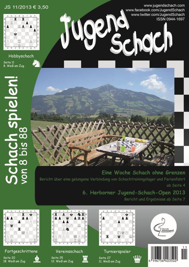Schachzeitung JugendSchach Ausgabe 11 2013 Titelseite Web
