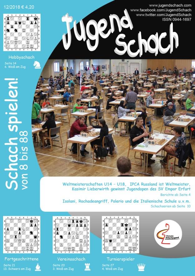 JugendSchach Ausgabe 12 2018 Titelseite