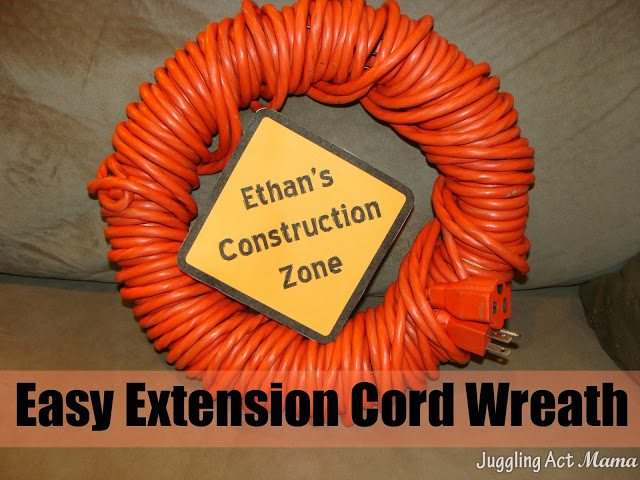 Easy Extension Cord Wreath Juggling Act Mama