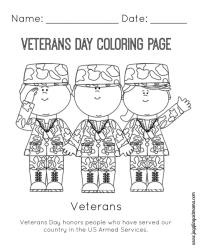 Veteran's Day Printable Coloring Page - Juggling Act Mama