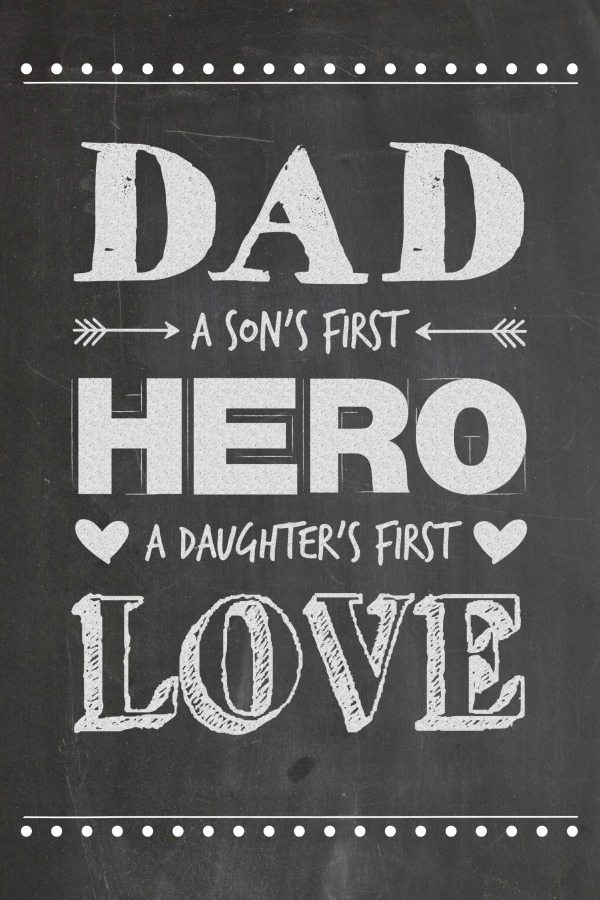 Download Father's Day Chalkboard Printable - Juggling Act Mama