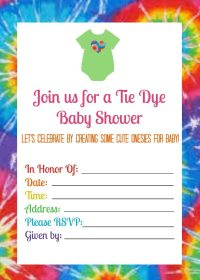 Summer Baby Shower with Tie Dye Onesies - Juggling Act Mama