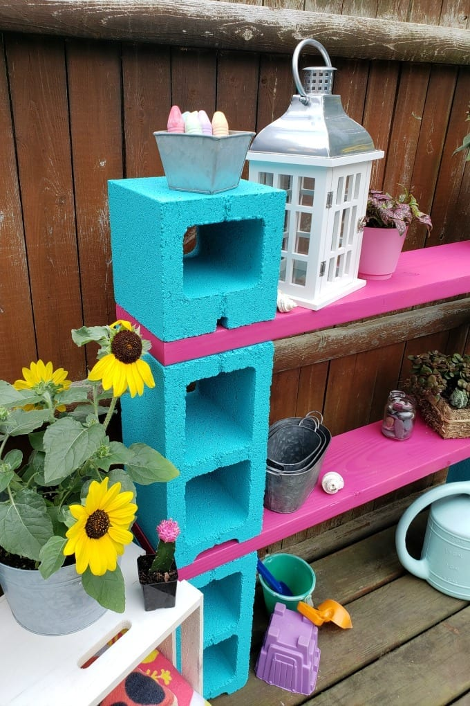 diy outdoor storage cinder block