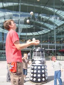 Image result for daleks juggling