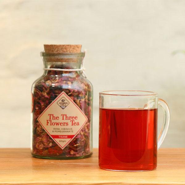 Three-Flower-Tea-Rose--Hibiscus--Pomegranate-Tisane