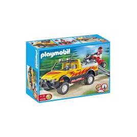 playmobil 4228 pick up con quad de carreras