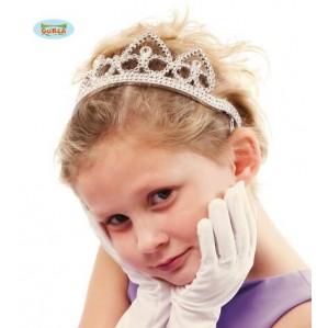 diadema princesa plateada