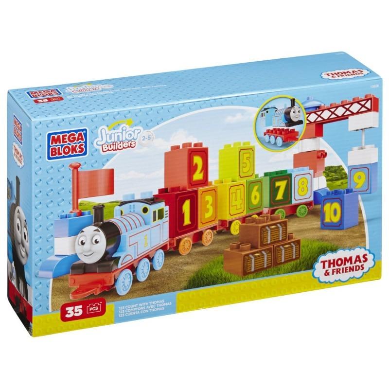 Tren 1 2 3 Thomas Mega Bloks CYM77