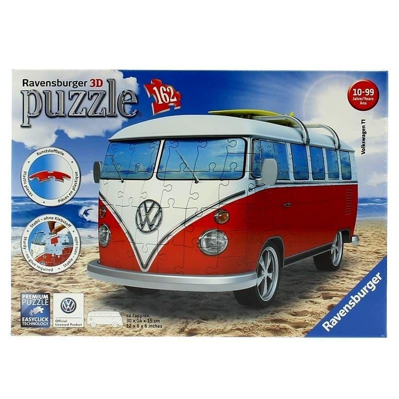 puzzle 3d furgoneta volkswagen