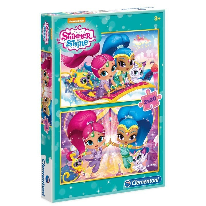 shimmer and shine puzzle 2x20 piezas
