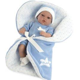 muñeca natal azul