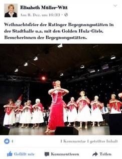 Post von Fr. Dr. Müller-Witt (Kommunalpolitikerin)