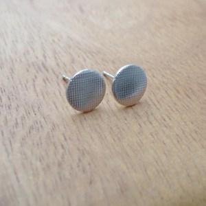壓紋耳環/格紋款