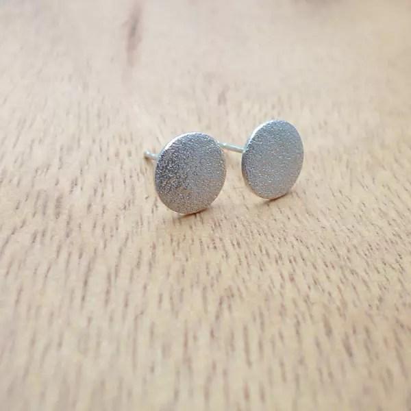 壓紋耳環/磨砂款