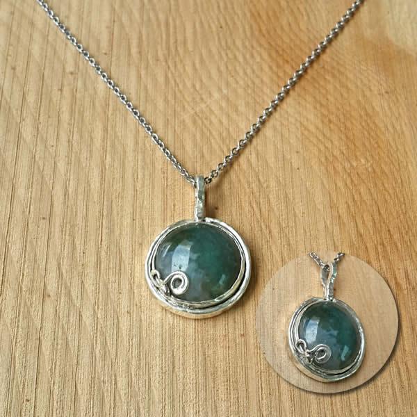 堆綠│銀飾項鍊