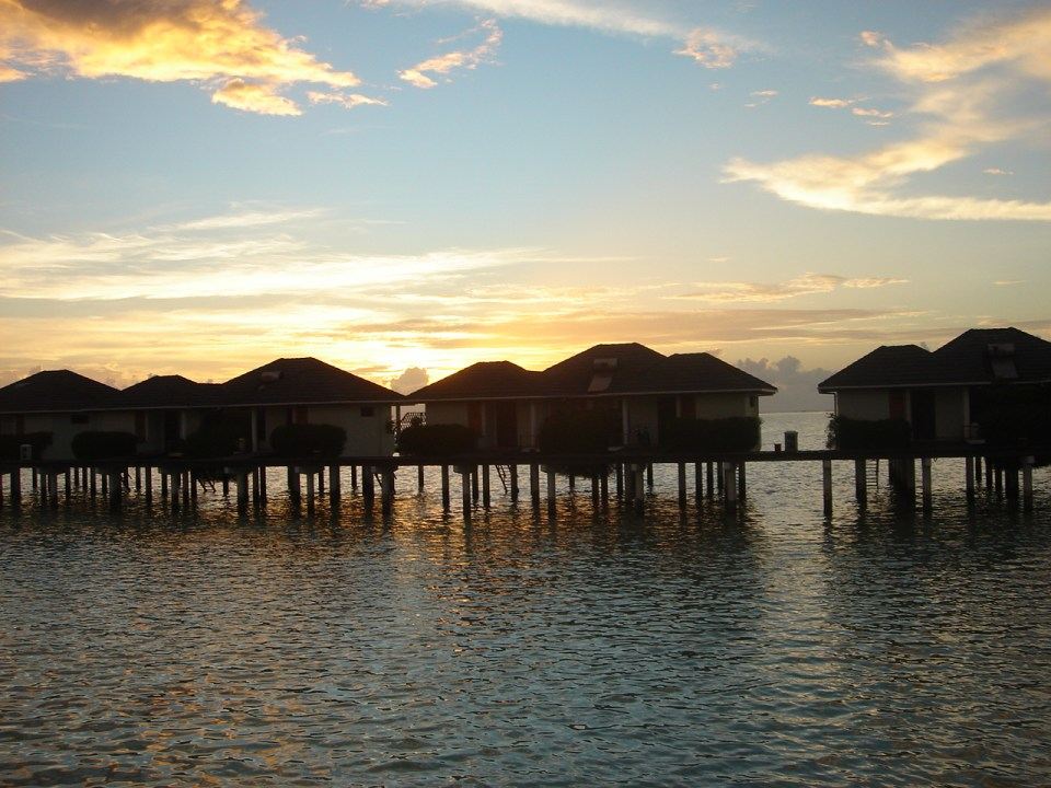 The luxurious cottages on the sea
