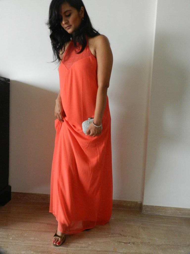 Dress: Femella Ear Rings: Eesha Zaveri Jewelry Silver Minaudiere: Satya Paul Footwear: Kala Niketan, New Delhi