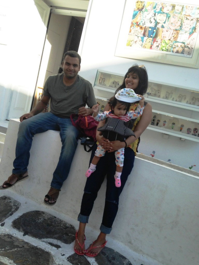 That's the 3 of us  in Mykonos