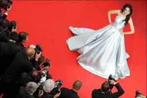 """Actress Malika Sherawat poses on red carpet as she arrives for the screening of the film  """"The BFG"""" (Le Bon Gros Geant) out of competition at the 69th Cannes Film Festival in Cannes, France, May 14, 2016. REUTERS/Regis Duvignau"""