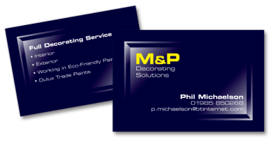 M&P Decorating Solutions - Brand Identity Design Wiltshire