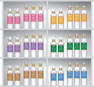 Honey Cosmetics Product Merchandising Design
