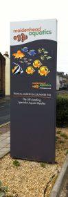 Maidenhead Aquatics Southsea Totem Sign Design