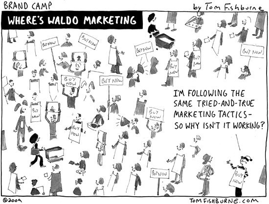Marketing Cartoons: Content Marketing Mistakes