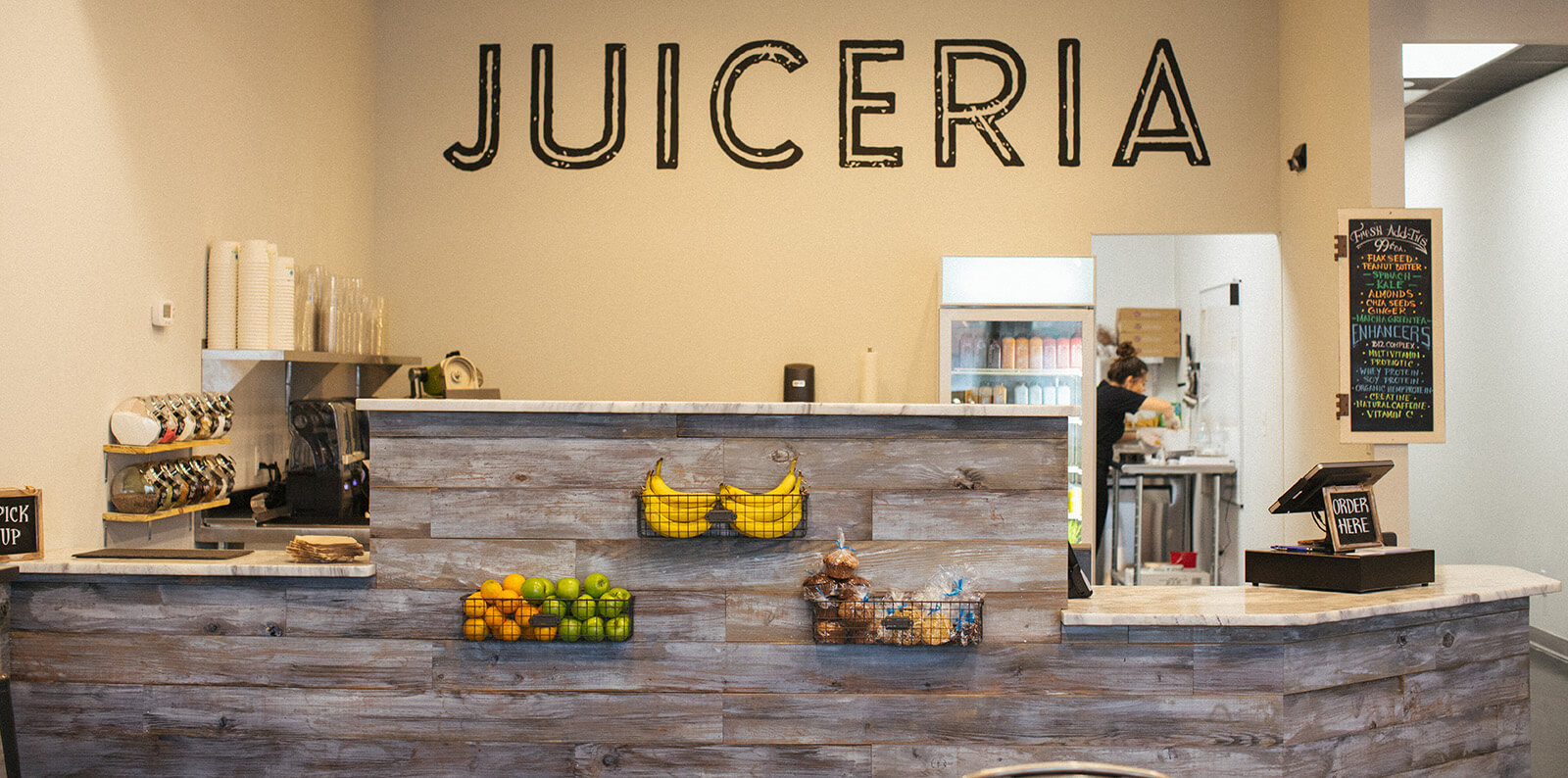 Juiceria front counter