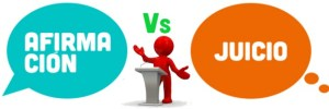 Importancia entre afirmaciones y juicios