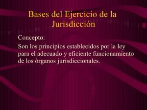 Bases de la Jurisdicción
