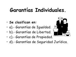 Clasificación de las garantías individuales