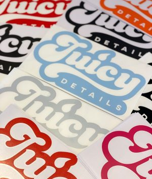 Juicy Details stickers - new 2019 logo decals