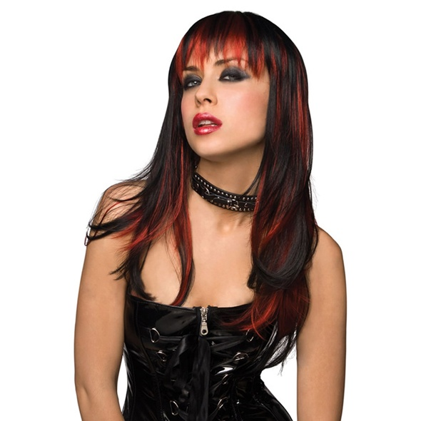 Pleasure Wigs Courtney Wig - Black with Burnt Red