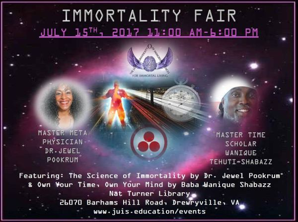 Immortality Fair Featuring Dr. Jewel Pookrum & Baba