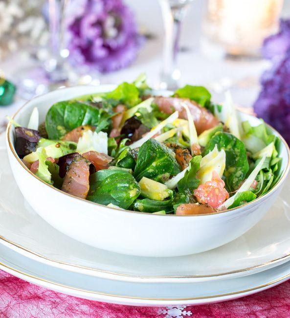 salade simple fraiche et legere pour repas de fetes