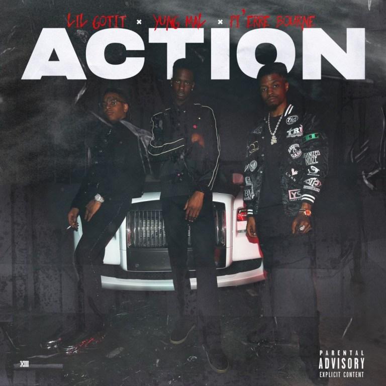 "Yung Mal Feat. Lil Gotit & Pierre Bourne – ""Action"""