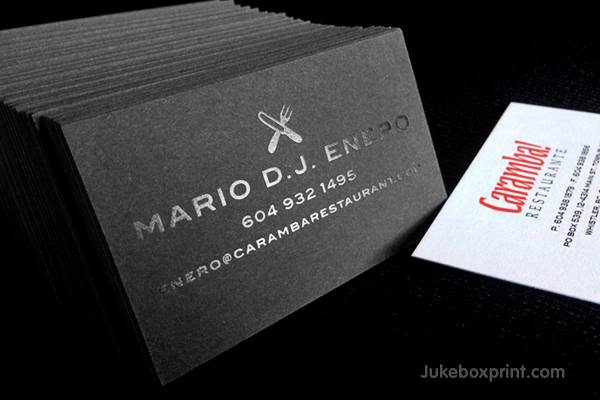 Premium Black Business Cards exclusively from Jukeboxprintcom
