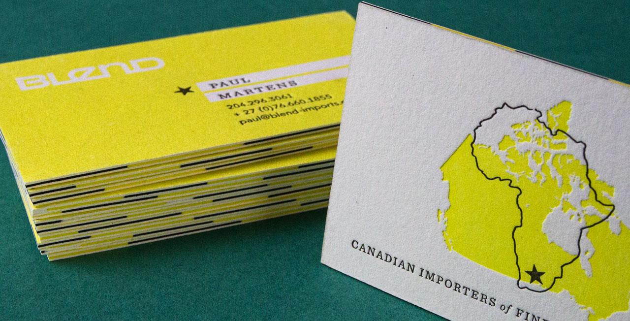 Layered Business Cards  Jukebox Print