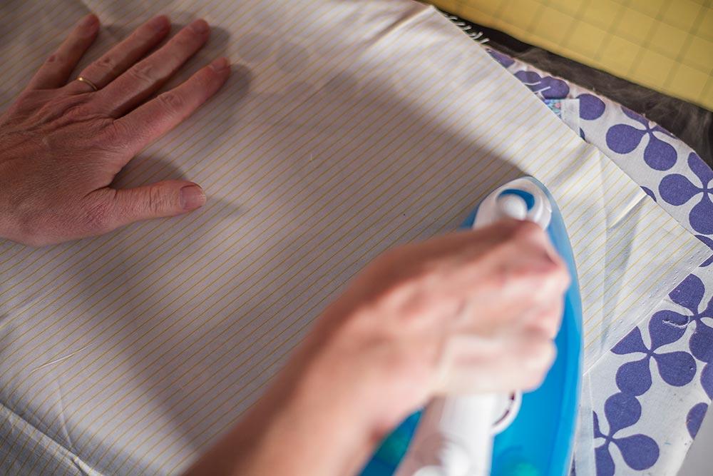 ironing the Vilene
