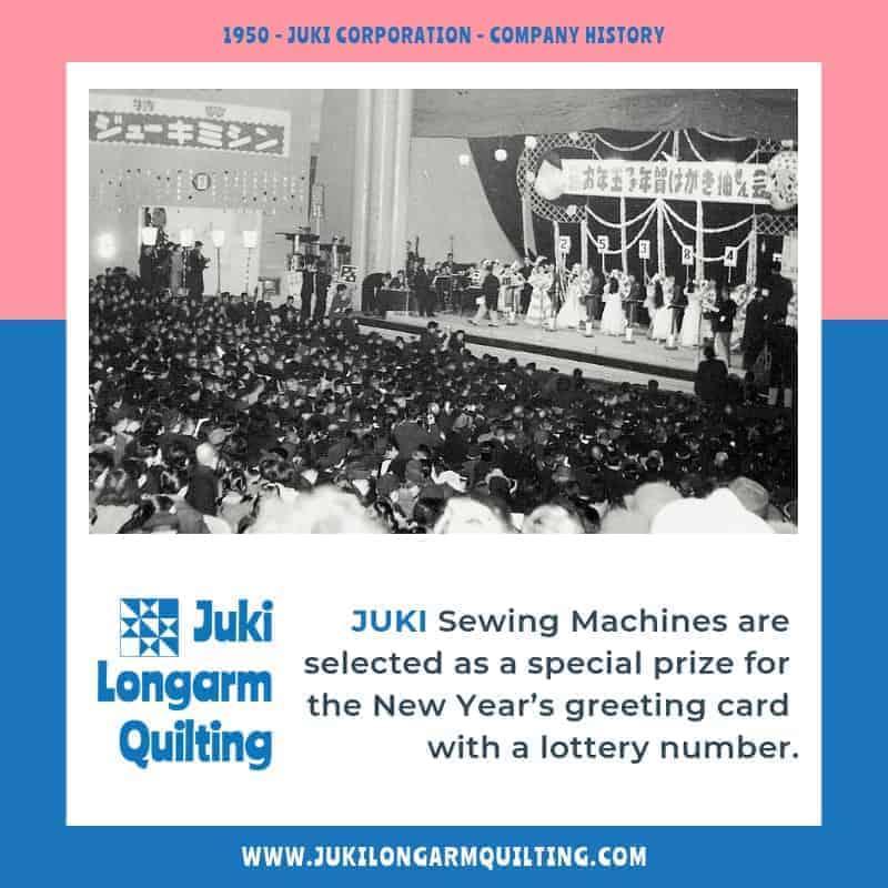 Corporate Timeline 1950 - 1959 - Juki Longarm Quilting
