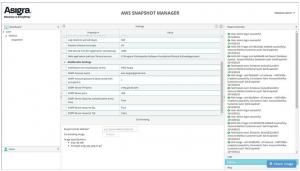 asigra AWS snapshot manager