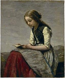 Camille Corot, Lesendes Mädchen