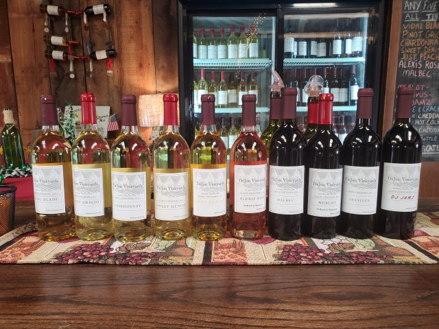 picture of wine selection